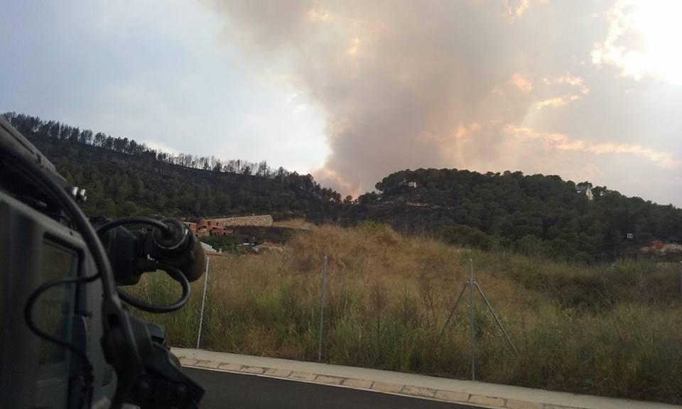 Incendio forestal Carcaixent