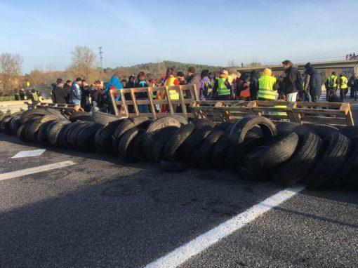 Cortes de carreteras durante el Procès de Catalunya