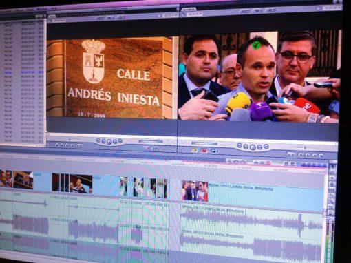 Reportaje en Fuentealbilla con Andrés Iniesta
