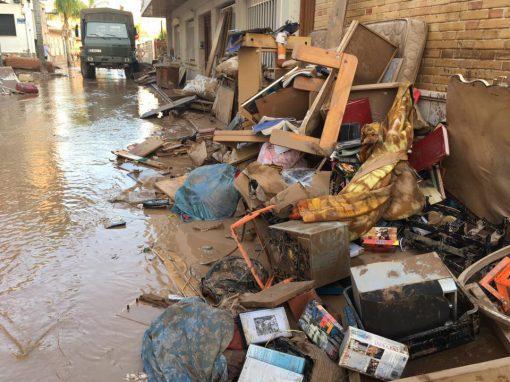 Los Alcázares. Desastres en la región de Murcia.